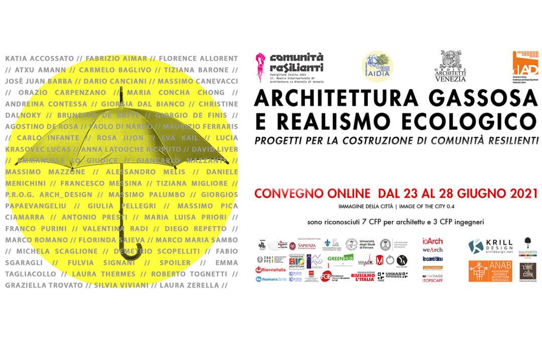 PAYSAGE MEDIA PARTNER DEL CONVEGNO ARCHITETTURA GASSOSA E REALISMO ECOLOGICO