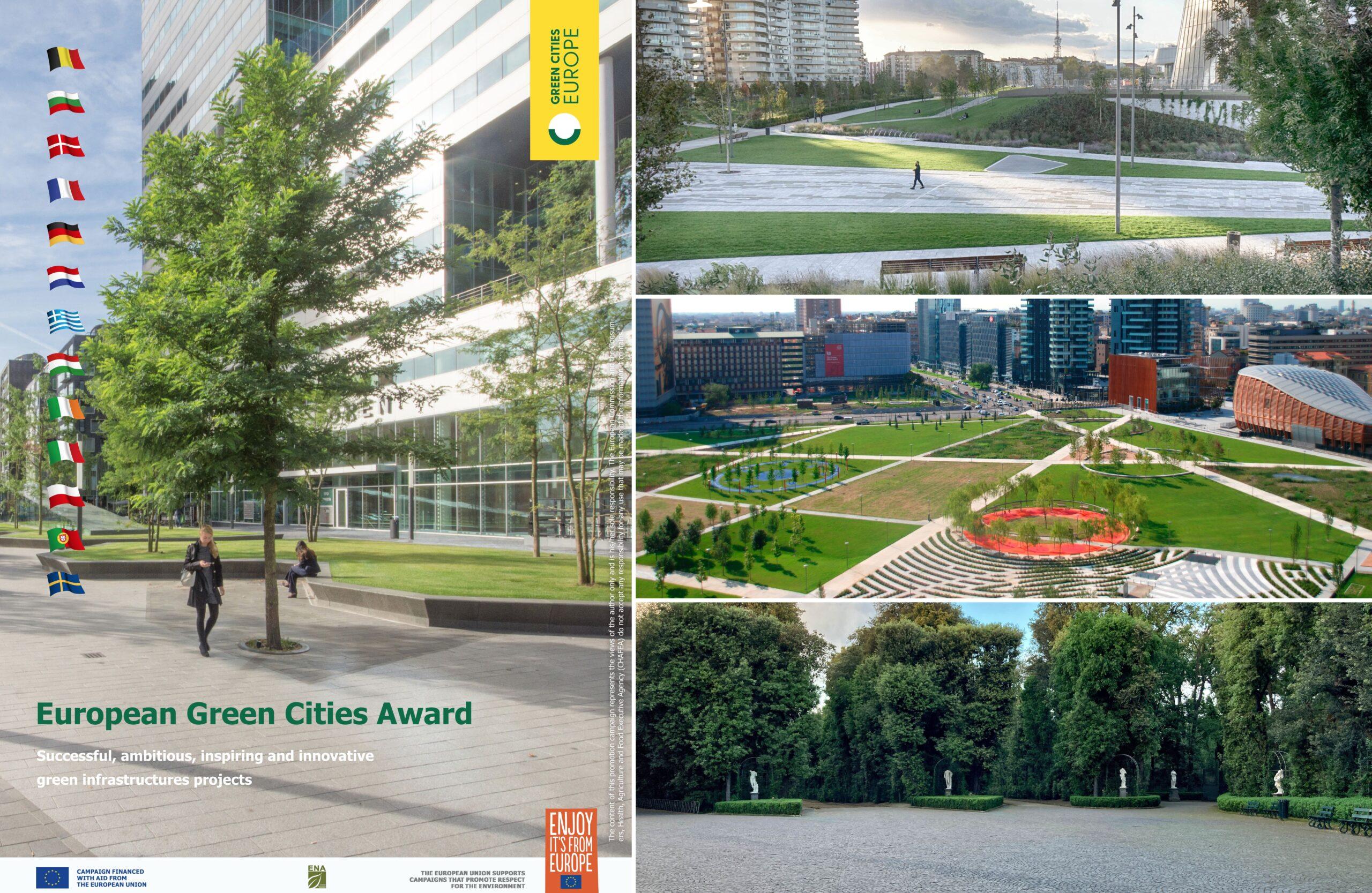 """""""EUROPEAN GREEN CITIES AWARD 2021"""" L'ITALIA SEGNALA 3 PROGETTI AL PREMIO"""